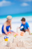 Mother and son at beach Stock Image