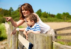 Mother and Son Bonding Royalty Free Stock Photo