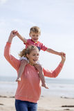Mother and son bonding Royalty Free Stock Photos