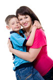 Mother and son bonding together Royalty Free Stock Photos