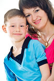 Mother and son bonding together Royalty Free Stock Images
