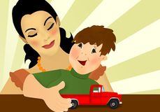 Mother and son, cdr vector Stock Photography