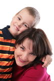 Mother with son close-up Stock Photography
