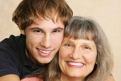 Mother & Son Closeup Royalty Free Stock Photo