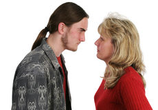 Mother Son Confrontation royalty free stock images