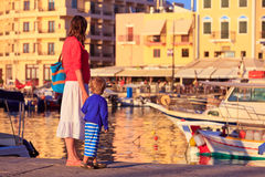 Mother and son in Crete, Greece Royalty Free Stock Photos
