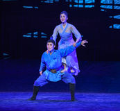 """Mother and son-Dance drama """"The Dream of Maritime Silk Road"""" Royalty Free Stock Photography"""
