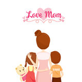 Mother, Son And Daughter Hugging Together. Family Embracing Hugging Parent Offspring Love Relationship Royalty Free Stock Photo