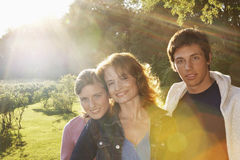 Mother With Son And Daughter In Park Royalty Free Stock Photos
