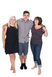 Mother with son and daughter. Posing in studio Stock Photography