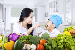 Healthy family eating Stock Photo