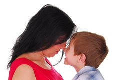 Mother and Son Eleven Royalty Free Stock Photography