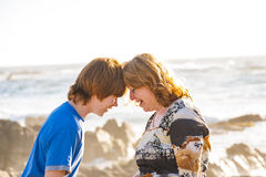Mother and son enjoy the afternoon sun Stock Photography