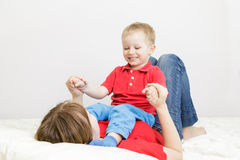 Mother and son enjoying time together Royalty Free Stock Photography