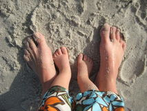 Mother Son Feet Beach Royalty Free Stock Image