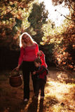 Mother and son in forest Royalty Free Stock Photo