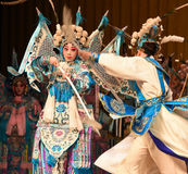 """Mother and son of general- Beijing Opera"""" Women Generals of Yang Family"""" Stock Photography"""