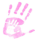 Mother and son handprint illustration design Stock Photos