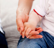 Mother and Son hands Royalty Free Stock Photos