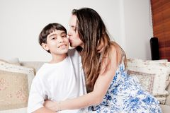 Mother and Son Stock Images
