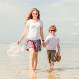 Mother and son having family time on holidays Royalty Free Stock Photography