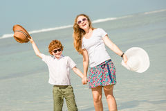Mother and son having family time on holidays Royalty Free Stock Photo