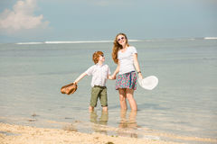Mother and son having family time on holidays Royalty Free Stock Image