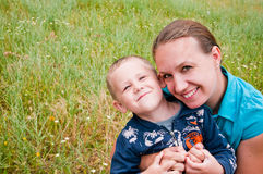 Mother and son having fun Stock Photo