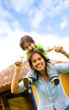Mother and son having fun Royalty Free Stock Image