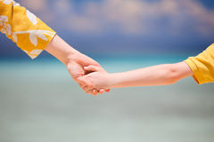 Mother and son holding hands Royalty Free Stock Photography