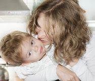 Mother and son at home Royalty Free Stock Photo