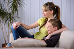Mother And Son At Home Stock Photography