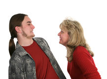 Mother Son Horseplay stock photography