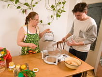 Mother and the son on kitchen. Royalty Free Stock Photography