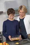 Mother and Son in the kitchen Royalty Free Stock Photos