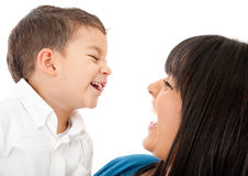 Mother and son laughing Royalty Free Stock Image