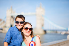 Mother and son in London Royalty Free Stock Images