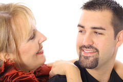 Mother and son looking at each other Royalty Free Stock Images