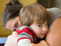 Mother and son together Stock Images
