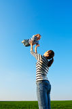 Mother with son is in a merry mood Royalty Free Stock Image