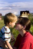 Mother And Son Moment Royalty Free Stock Photo