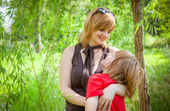 Mother and son on Mother's Day. Spring portrait of mother and son on Mother's Day Stock Image