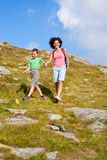 Mother and son in the mountains Stock Photography