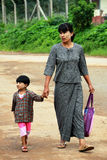 Mother and son, Myanmar Stock Photos