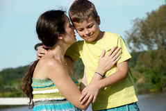 Mother and son in nature Royalty Free Stock Photography