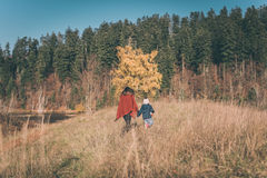 Mother and son in nature Stock Photography