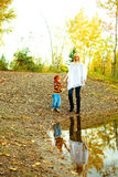 Mother and son near the lake Royalty Free Stock Photo