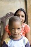 Mother son Nicaragua Corn Island Stock Photo