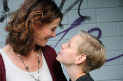 Mother and son. Nother and son best friends Royalty Free Stock Photo
