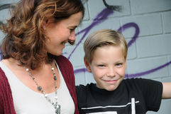 Mother and son. Nother and son best friends Royalty Free Stock Photography